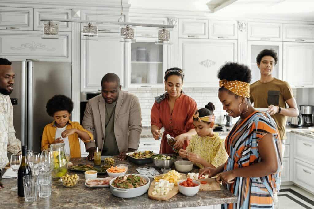 Familie og mad